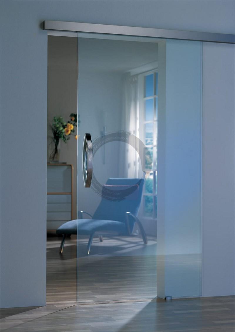 Стеклянные двери в интерьере (23)