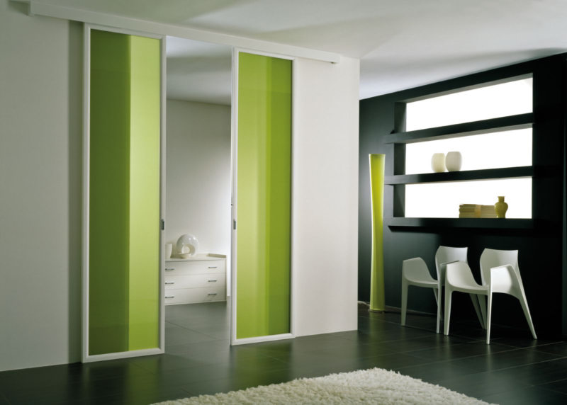 Стеклянные двери в интерьере (26)