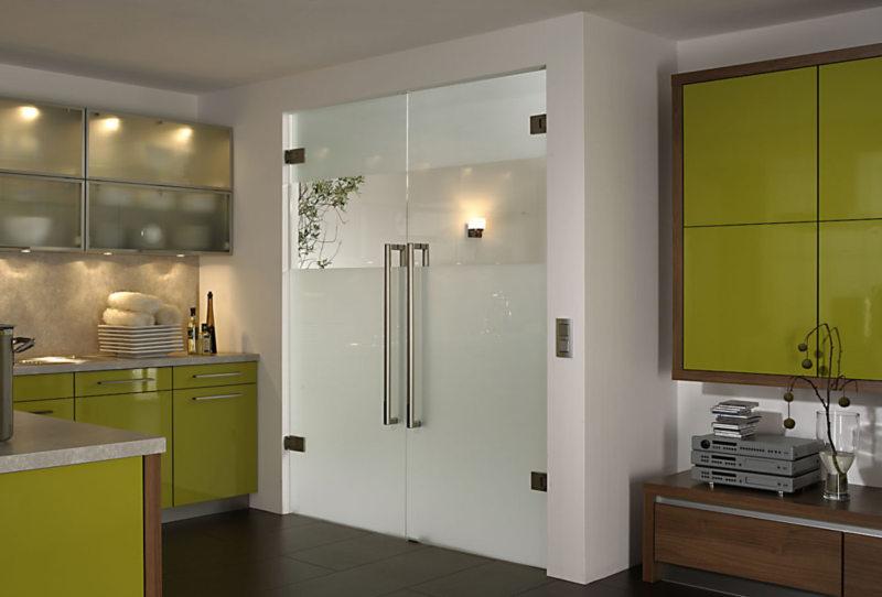 Стеклянные двери в интерьере (27)