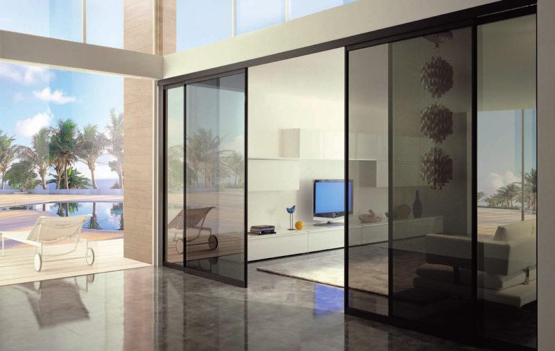 Стеклянные двери в интерьере (30)
