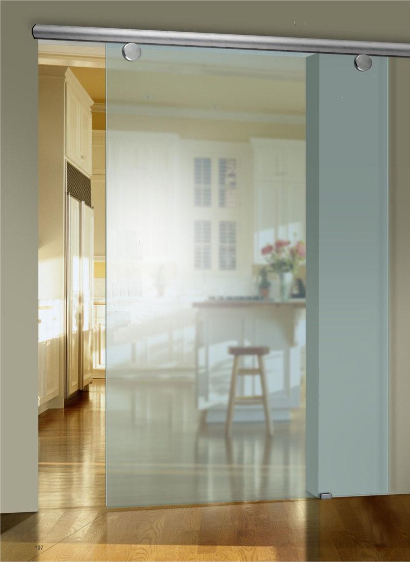 Стеклянные двери в интерьере (32)