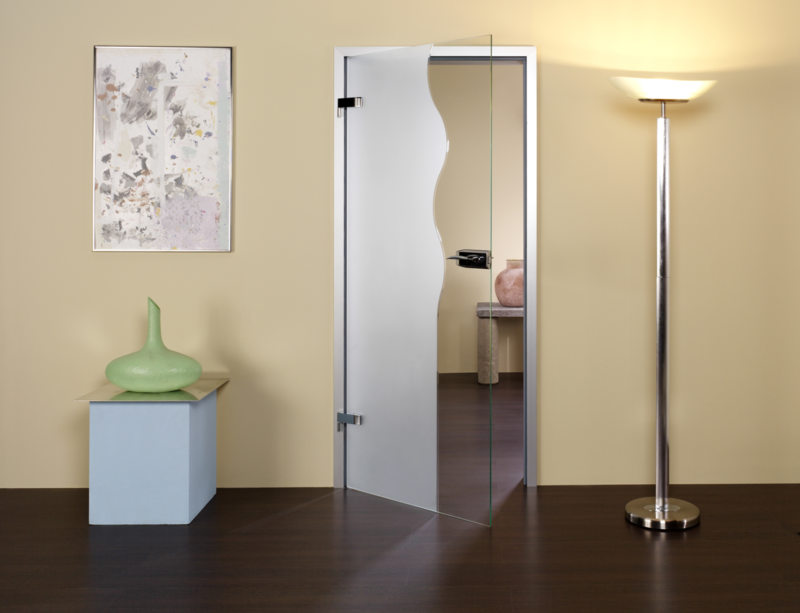 Стеклянные двери в интерьере (35)