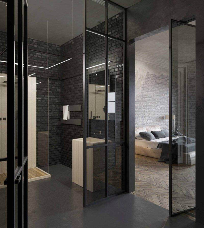 Стеклянные двери в интерьере (4)