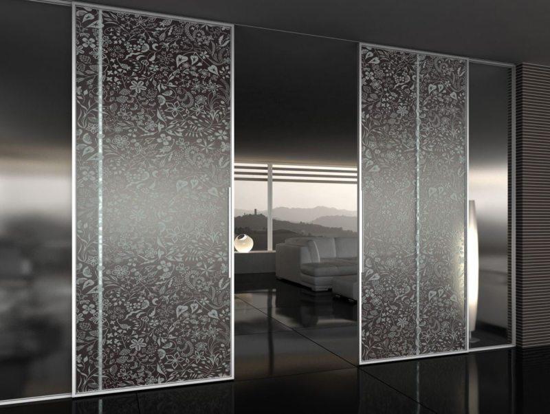 Стеклянные двери в интерьере (45)