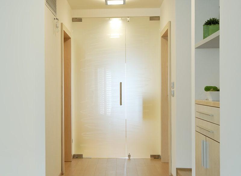 Стеклянные двери в интерьере (48)