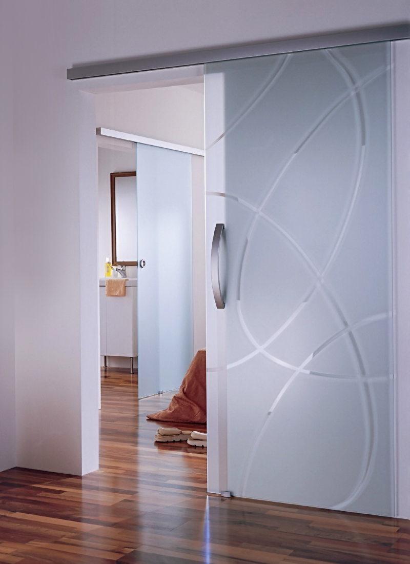 Стеклянные двери в интерьере (50)