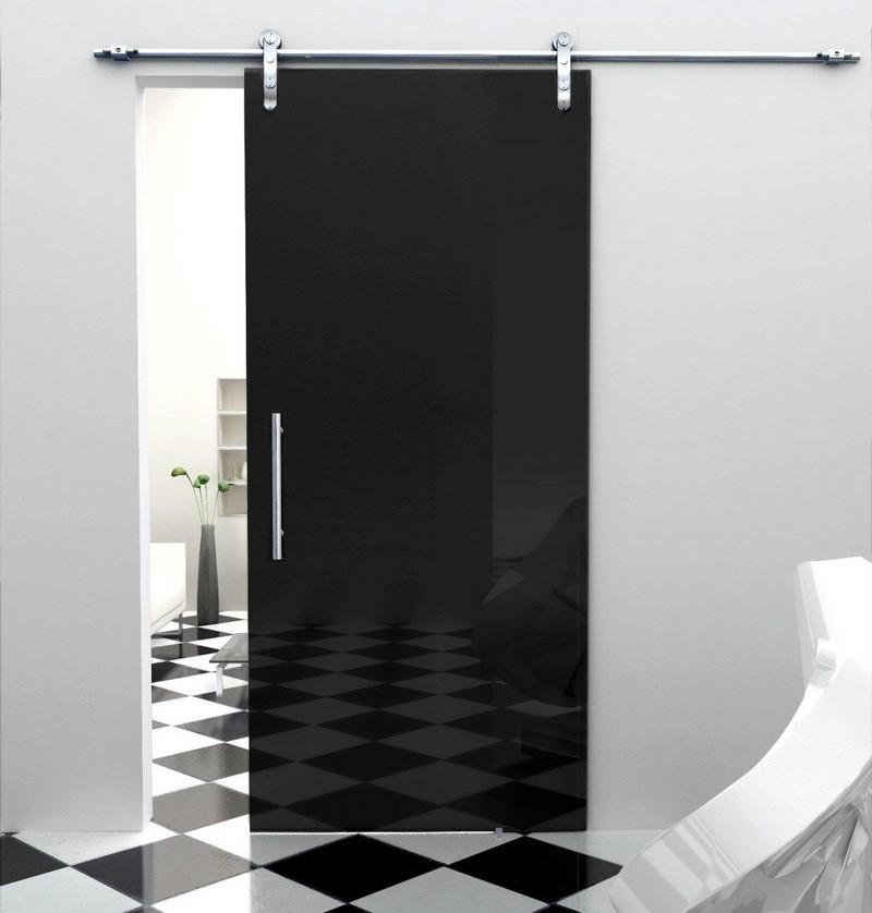 Стеклянные двери в интерьере (52)