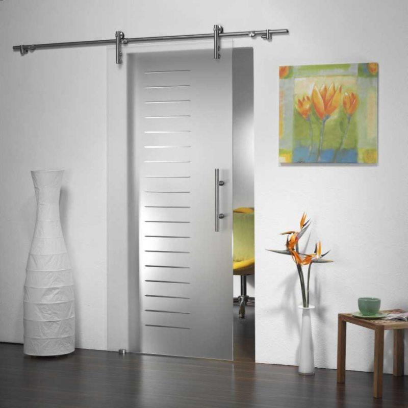 Стеклянные двери в интерьере (54)