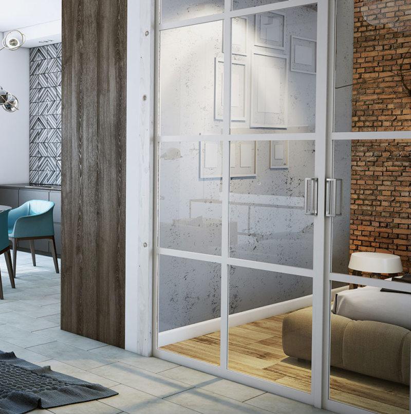 Стеклянные двери в интерьере (57)