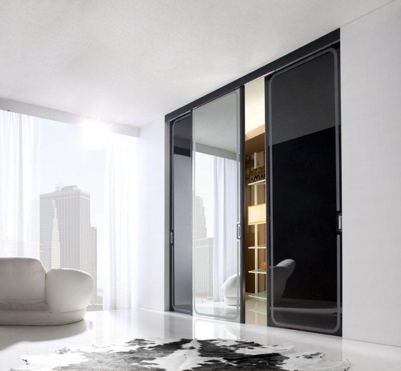 Стеклянные двери в интерьере (9)