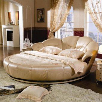 Круглая кровать в спальне — фото красивых моделей в интерьере спальни