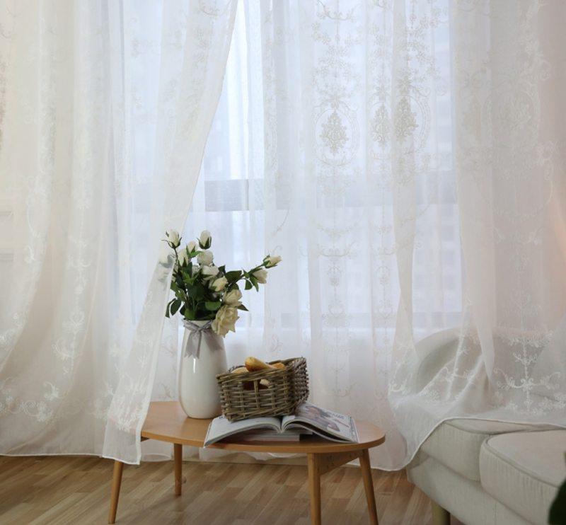 Тюль в спальню (40)
