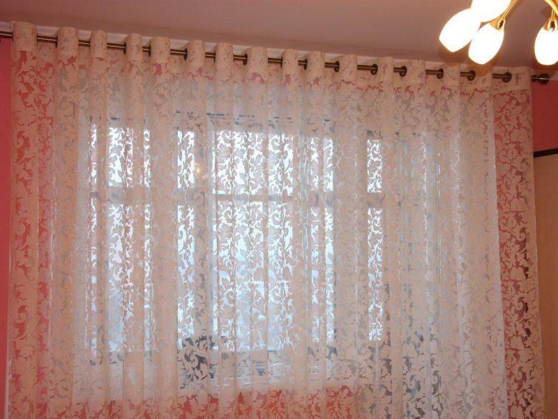 тюль в зал фото без штор