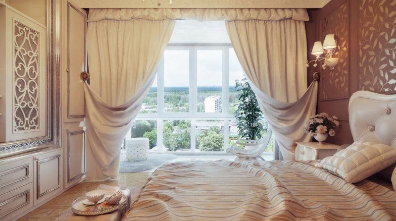 Занавески в спальню (36)
