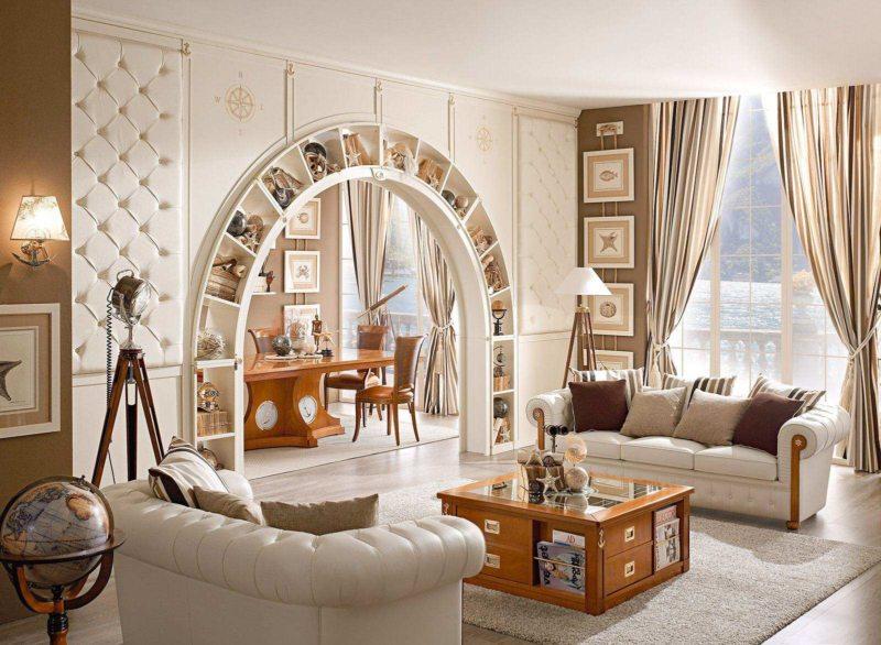 арка в гостинную (55)