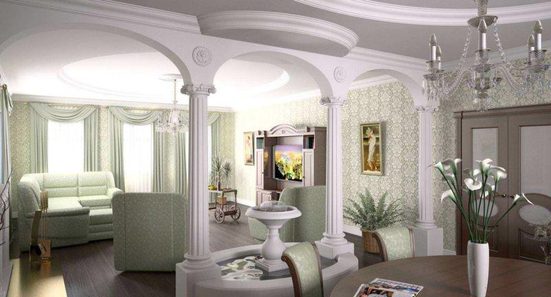 арка в гостинную (56)