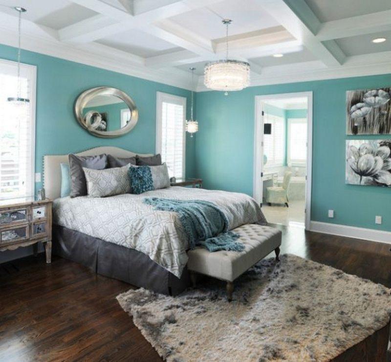 Бирюзовая спальня дизайн