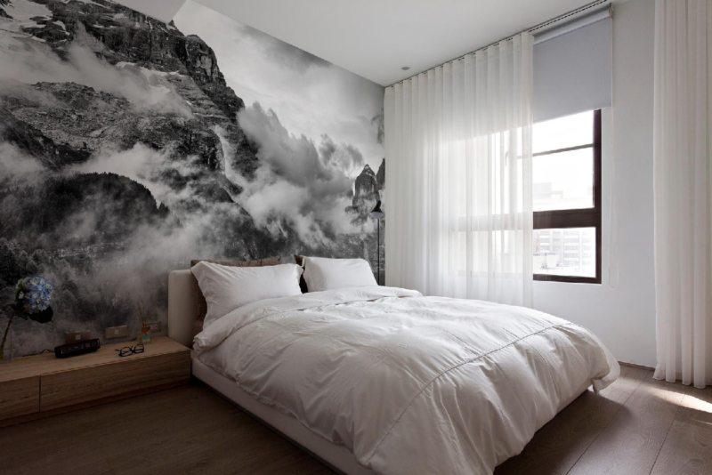 фото обои в спальне