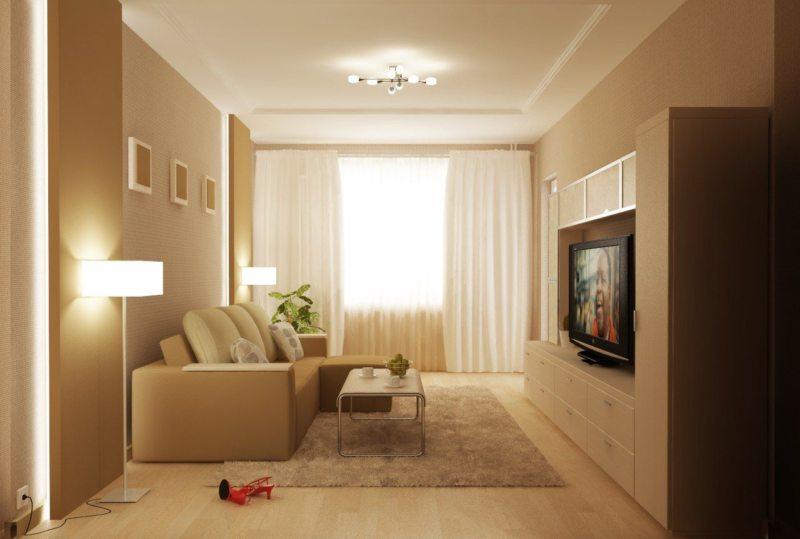 фото дизайн гостинной хрущевки