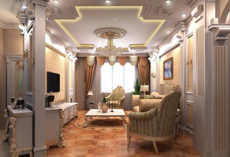 гостиная в стиле барокко (15)