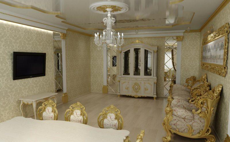 гостиная в стиле барокко (17)