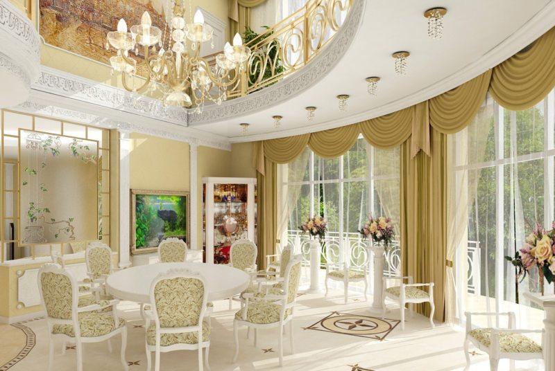 гостиная в стиле барокко (19)