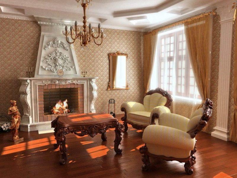 гостиная в стиле барокко (27)