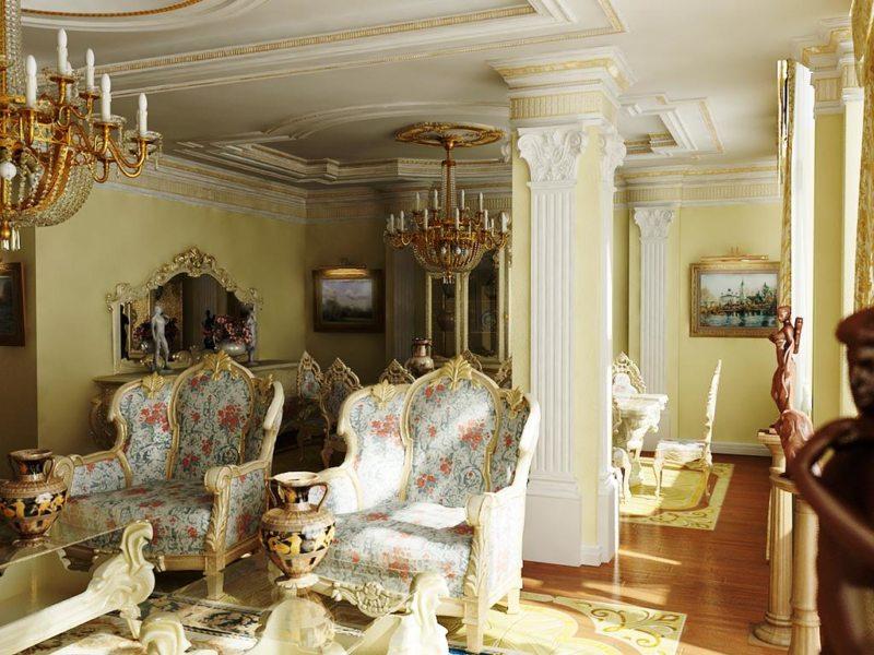 гостиная в стиле барокко (4)