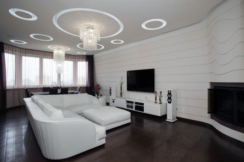 гостиная в светлых тонах (41)