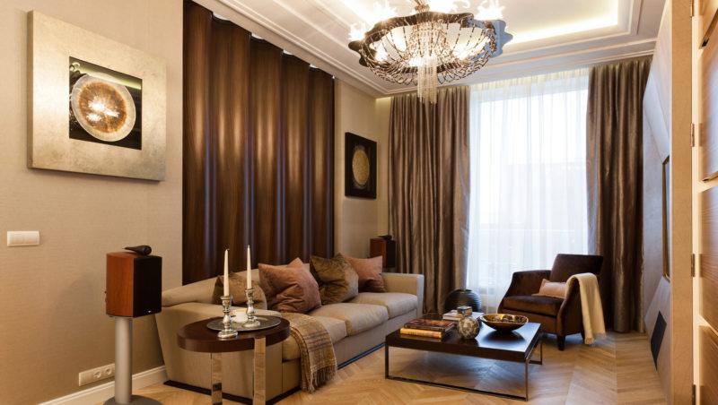 гостинная совмещенная со спальней (10)