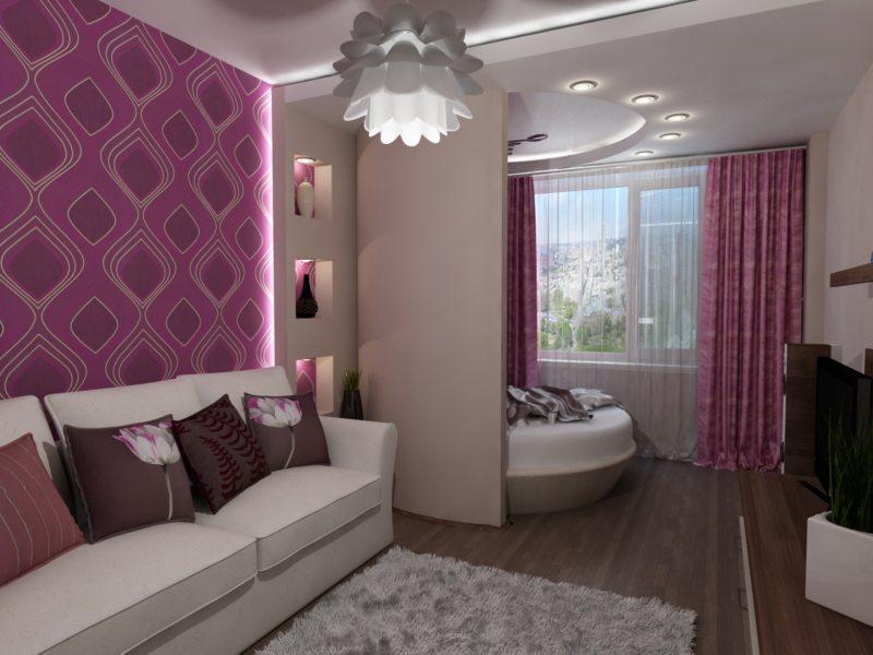 гостинная совмещенная со спальней (11)