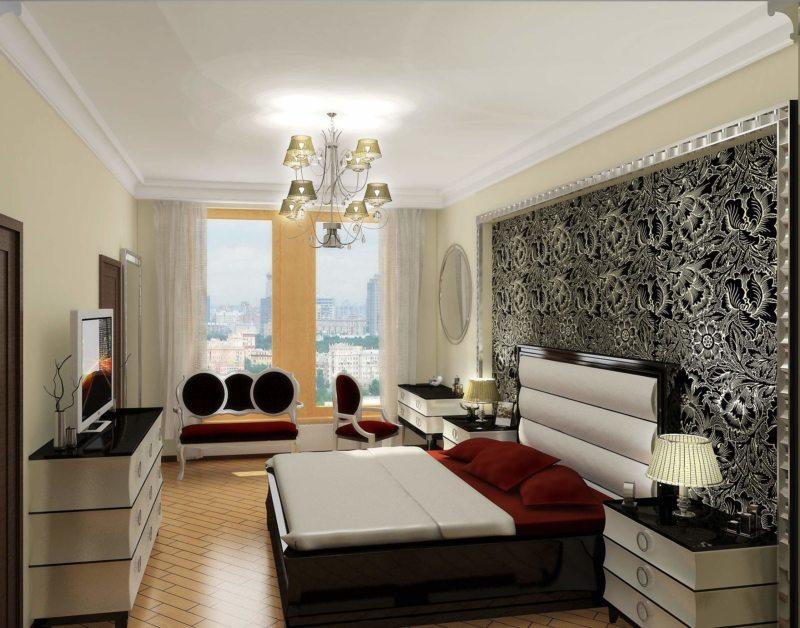 гостинная совмещенная со спальней (14)