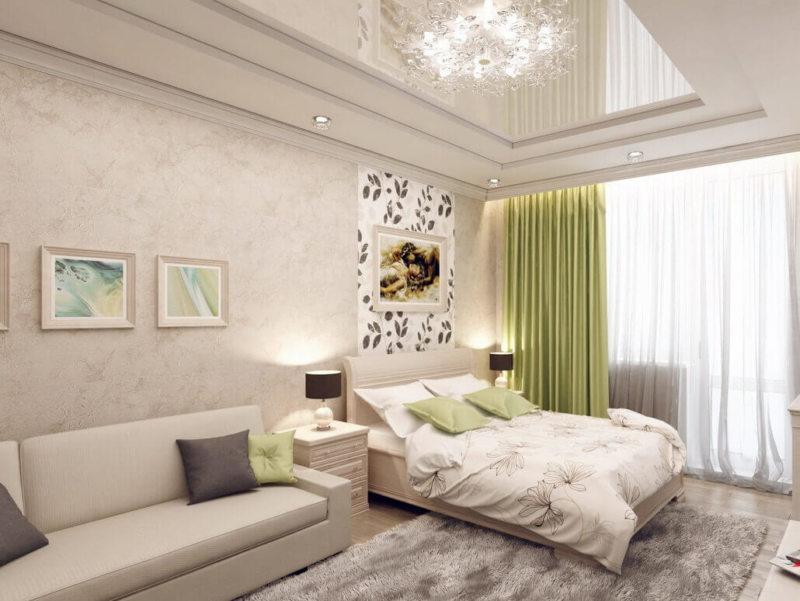 гостинная совмещенная со спальней (18)