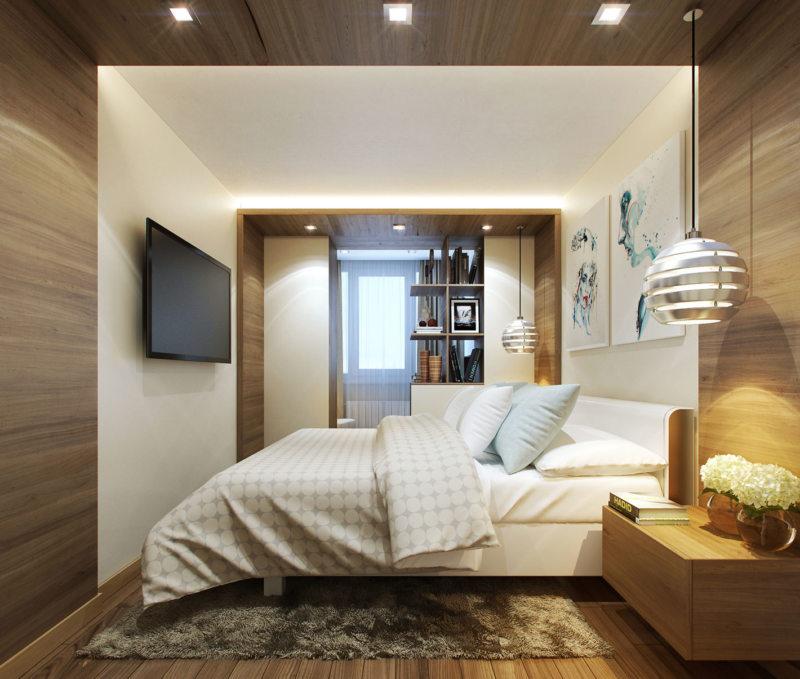 гостинная совмещенная со спальней (19)