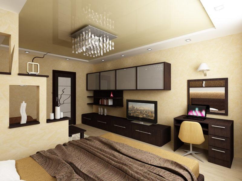 гостинная совмещенная со спальней (30)