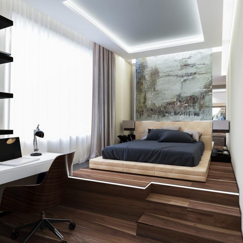 гостинная совмещенная со спальней (38)