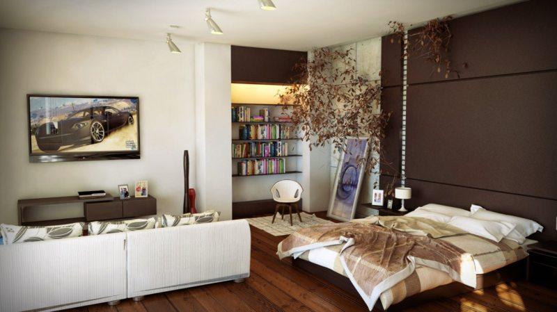 гостинная совмещенная со спальней (5)