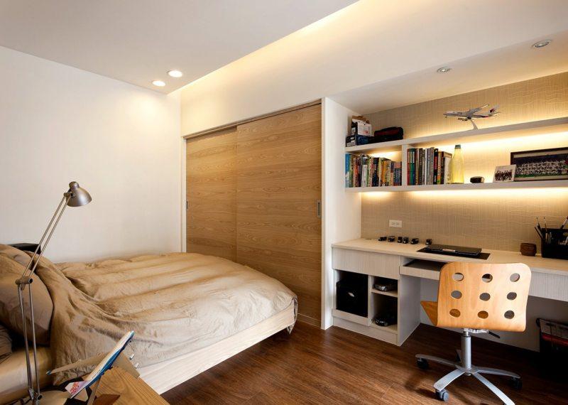 гостинная совмещенная со спальней (7)