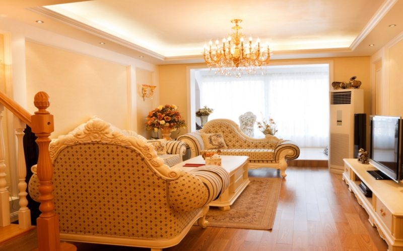 гостинная в золотом цвете (44)