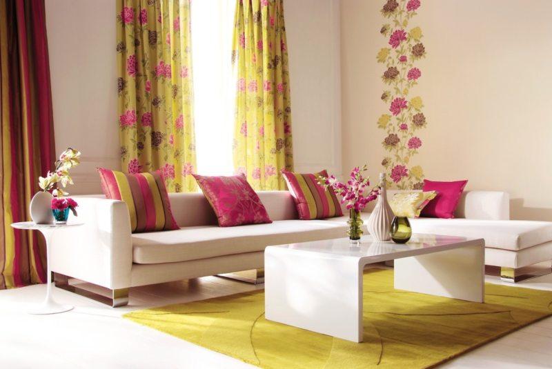 гостинная в золотом цвете (45)