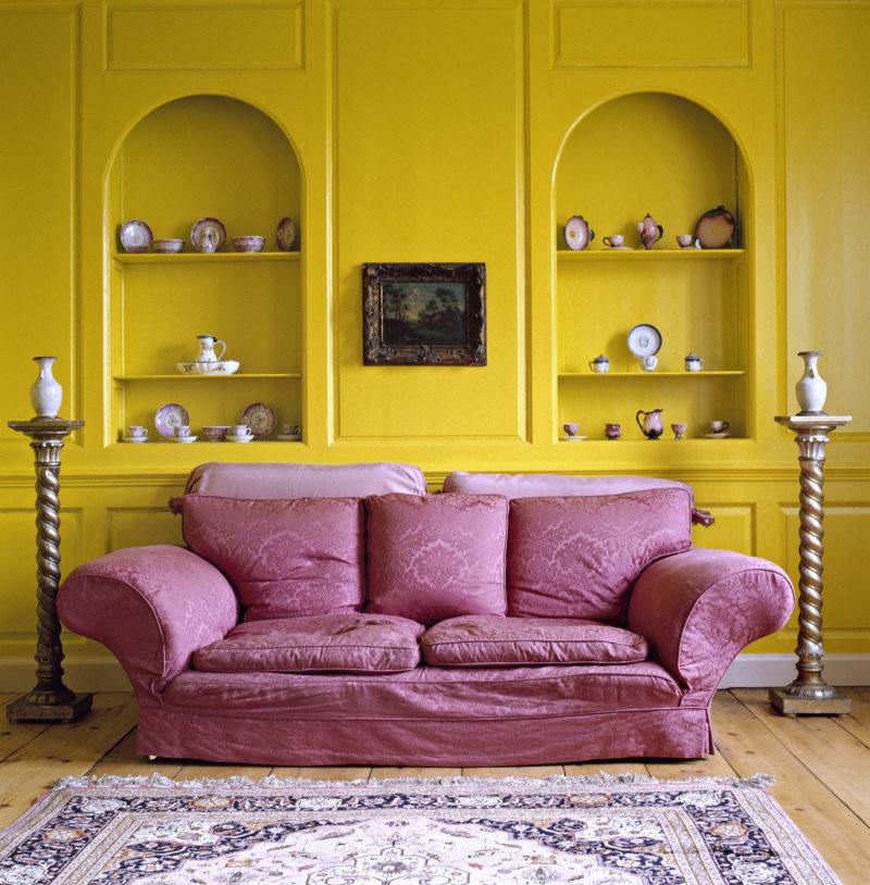 гостинная в золотом цвете (47)