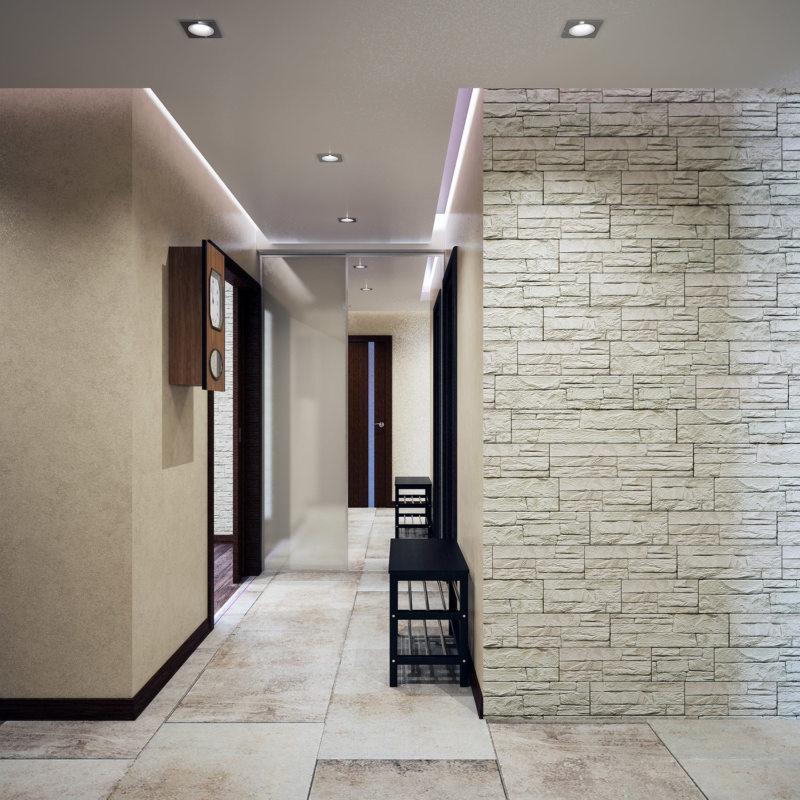 Балкон белый кирпич дизайн