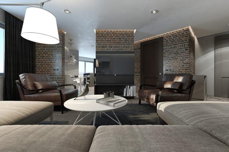 кирпичная гостиная (45)