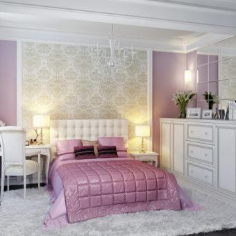 Комбинированные спальни обоями: особенности и хитрости в сочетании (70 фото)