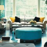 Midcentury Style dark turquoise sofa Marco Polo Imports Brand