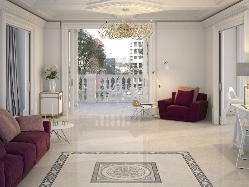 плитка в гостиной дизайн фото