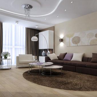 Портьеры в гостиную: фото стильных новинок и обзор дизайна с портьерами