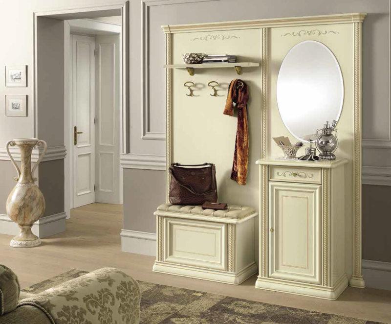 Белая мебель в прихожую классический стиль
