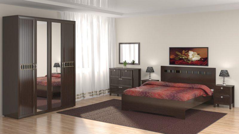 спальня цвета венге (39)
