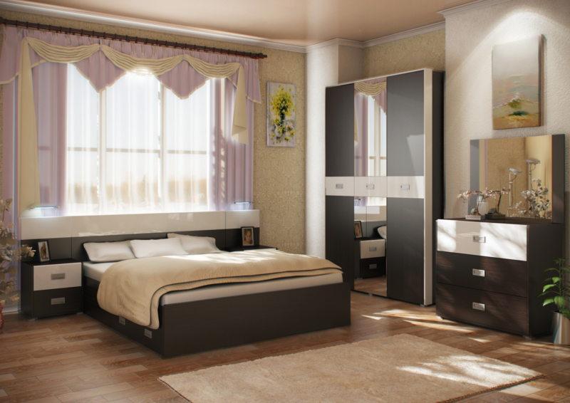 спальня цвета венге (42)